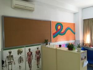 El centro dispone de 5 aulas (Infantil y Primaria) con Aire acondicionado, además del Aula de Informática.