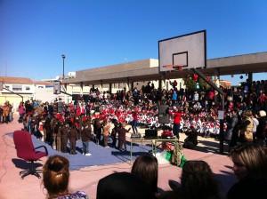 Cada año, celebramos la venida de las fiestas navideñas con un Festival Musical con Villancicos y Bailes.