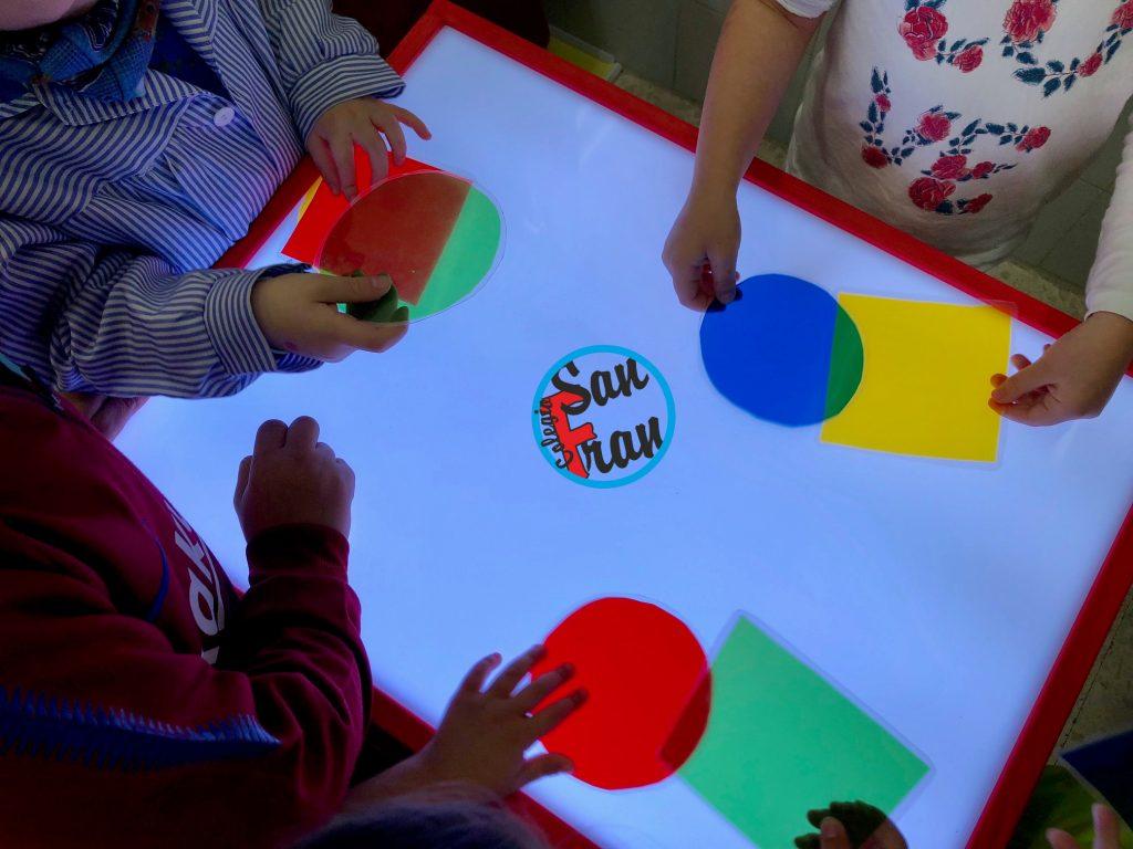 Jugando a formar colores. INFANTIL 3 AÑOS